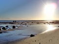 Boulmer beach at low tide