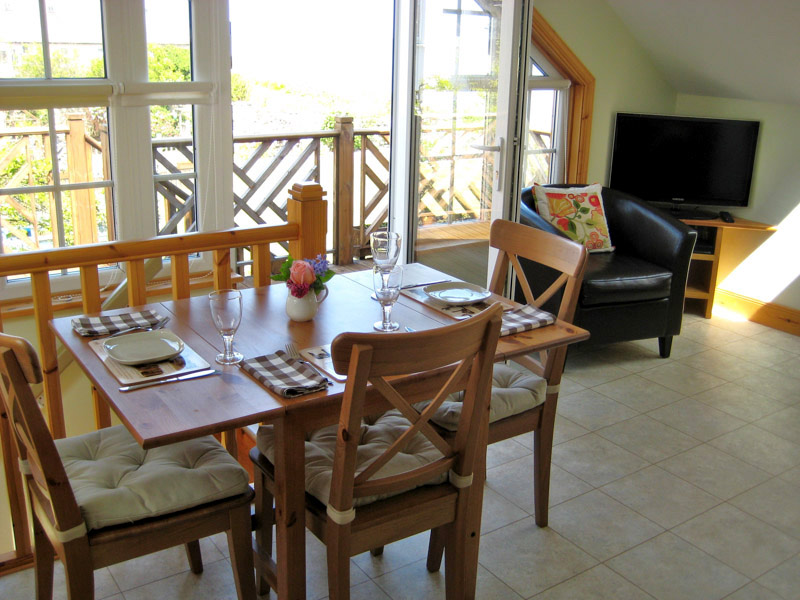 Dining area with sea view